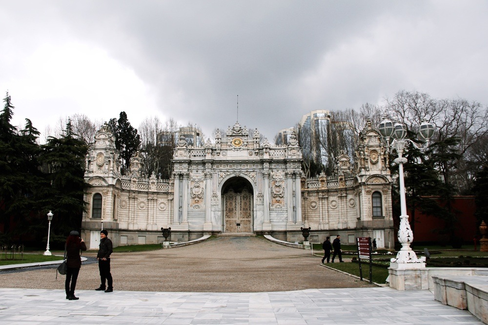 One section of the Dolmabahçe Palace. It has a beautiful view of the Bosphorus!