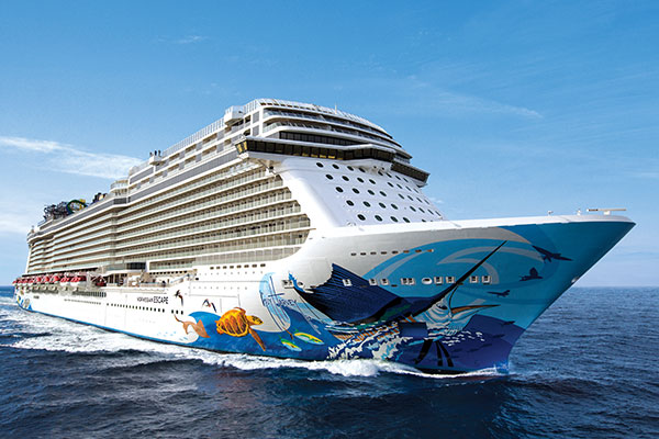 INAUGURAL - Largest cruise ship when built, Norwegian Escape