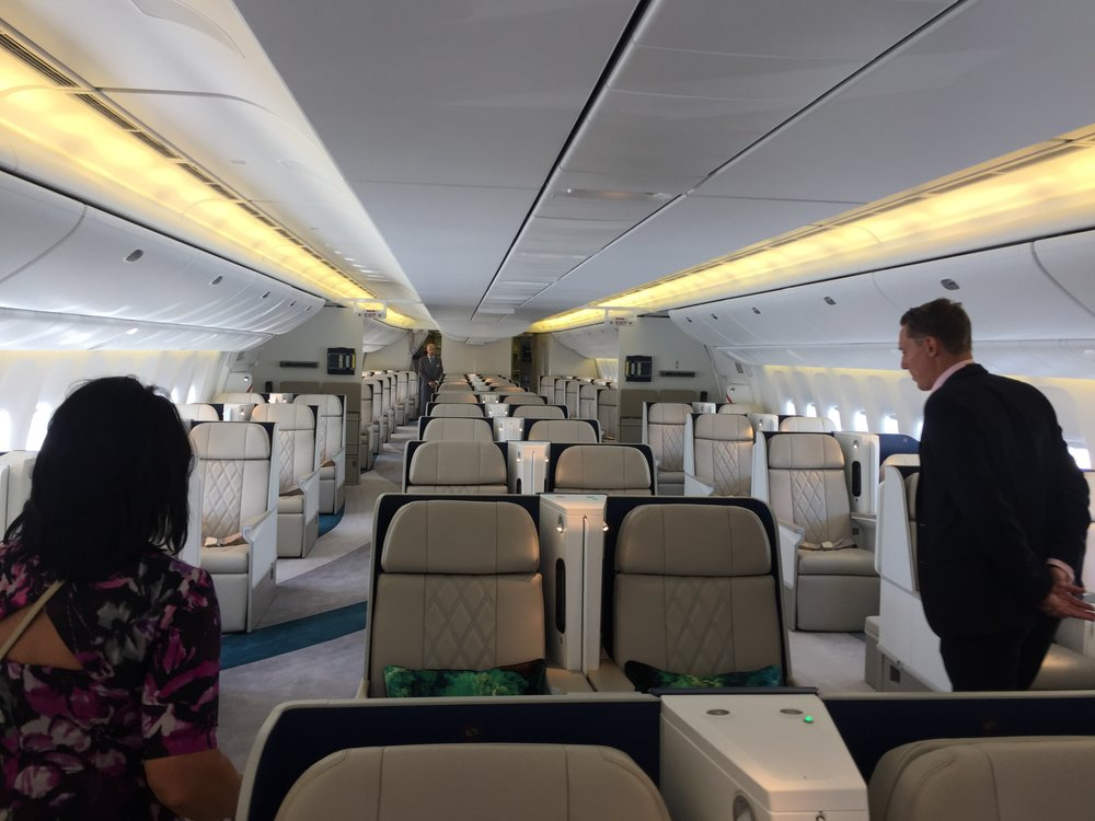 PRE-INAUGURAL - Largest private charter aircraft, Crystal Skye
