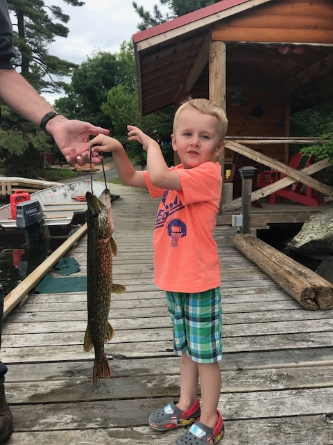 ...and can catch them.... BUT, I heard he was more interested in Todd's red licorice then holding the fish....