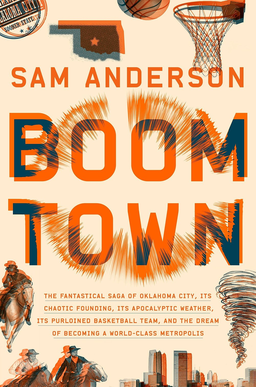 "- ""Maybe you didn't know that Oklahoma City was the key to everything. But it is. Boom Town is a bone-shaking thrill ride through civic history."" — Nicholson Baker"