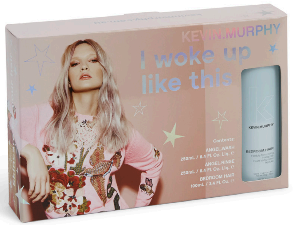 I woke up like this - $60 - Add Volume and body with dynamic duo ANGEL.WASH & RINSE. Infused with Mango, Cocoa Butter and Green Tea Extracts. Finish off with a touch of BEDROOM.HAIR for an enviably sexy undone look. #iwokeuplikethis Perfect choice for : Fine-to-normal hair types