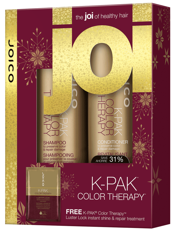 K-PAK Color Therapy - $28 - K-PAK Color Therapy deeply locks in vibrancy and moisture while locking out fading and damage thanks to our advanced Quadraßond Peptide Complex® of peptides, African Manketti Oil and Argan Oil, which repairs and seals hair's outer protective layer. Nourishes and hydrates damaged, color-treated or over-processed hair, giving your hair shine, movement and an improved responsiveness to styling. Also comes with FREE K-Pak Color Therapy Luster lock - instant shine and repair treatment. *Salon Beau customer favorite!*  Perfect choice for : Any color treated hair