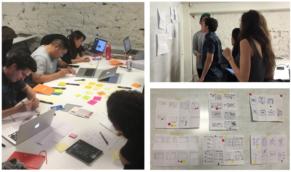 Some Scenes from our Design Sprint