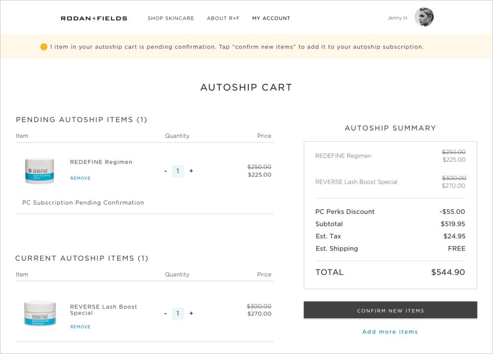 Autoship Cart