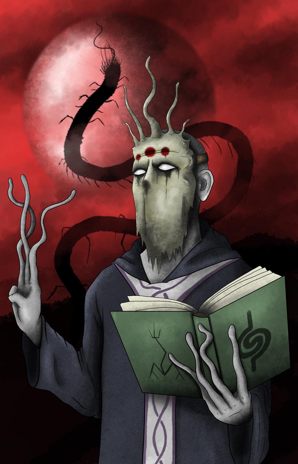 """The Wurm King"" - December Patreon Print"