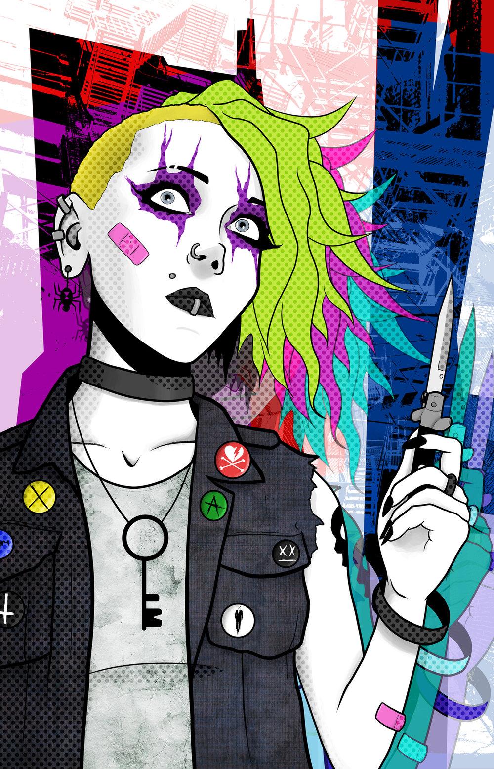 """Knife Girl"" - December Patreon Bonus Print"