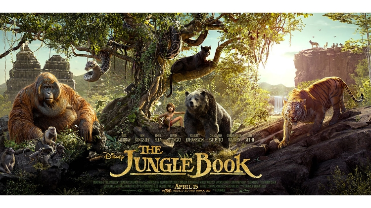 The Jungle Book  (2016) prowled its way to the top of the box office with $103.26 million.