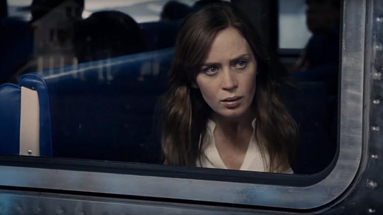 Rachael gawking from the train.