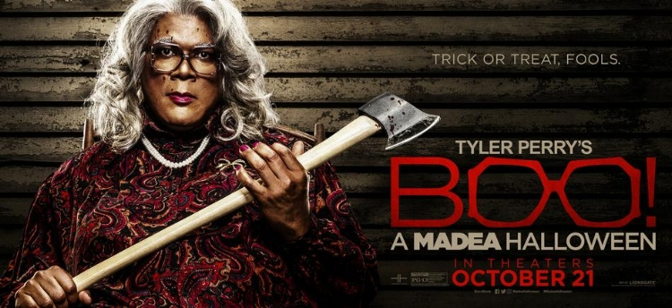 Unfortunately,  Boo! A Madea Halloween  topped the box office this weekend with an estimated $28.5 million