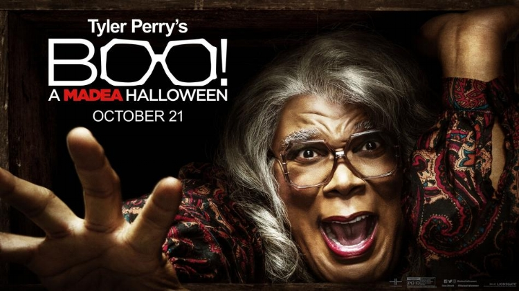 Boo! A Madea Halloween  topped the box office once again with an estimated $17.22 Million.