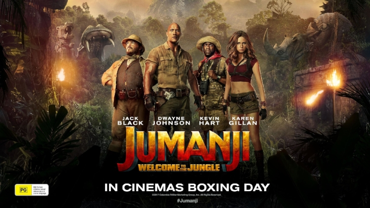 Jumanji: Welcome to the Jungle  claimed the top spot at the box office with an estimated $28  million.