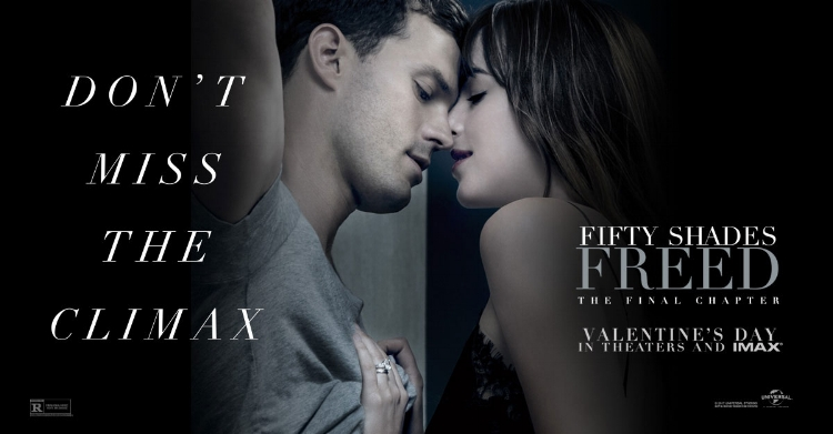 Fifty Shades Freed  climaxed at the box office with an estimated #38.56 million. (Don't blame me for that, look at their awful advertisement. We're all worse off for that existing.)