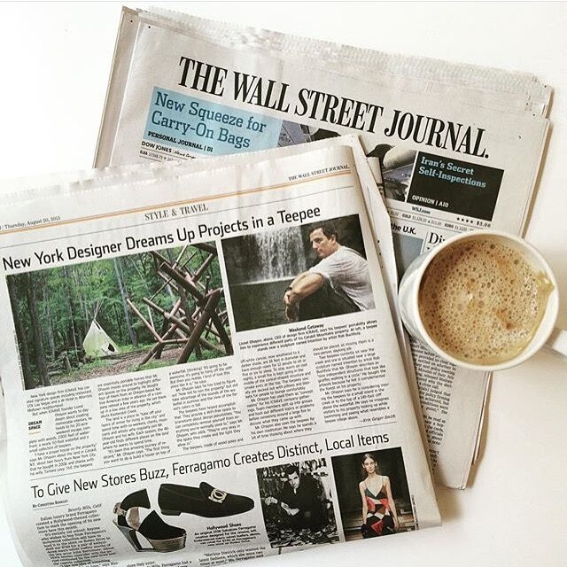 ICRAVE CEO Lionel Ohayon and his teepees in the Wall Street Journal