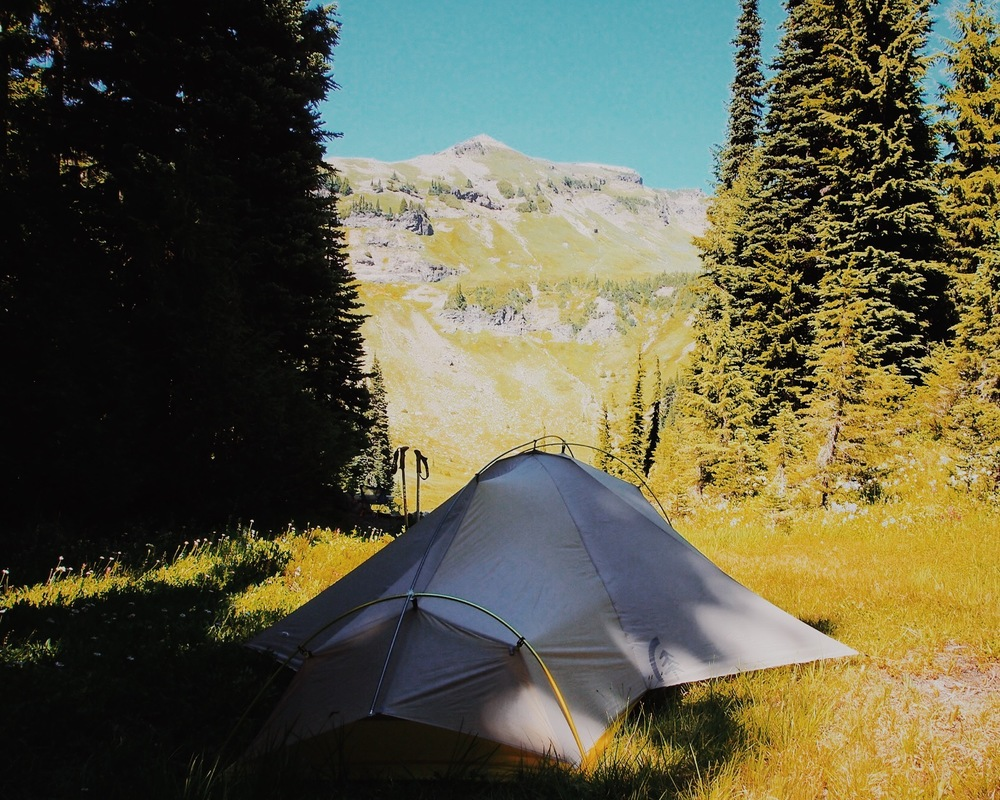 At home in the Goat Rocks Wilderness in Washington State, the Lightning 2 FL is quick to pitch and easily pulls taut.