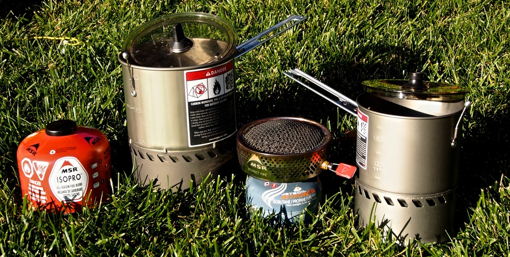 The 1.7L (left) and 1L (right) MSR Reactor series cook set is a simple and highly effective piece of kit to have in the backcountry.  Quick to boil, compact, and resistant to the wind, cooking in the backcountry is incredibly easy.