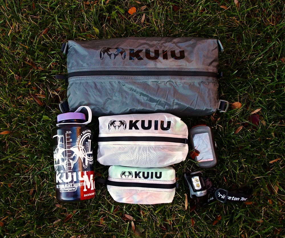 The KUIU Zip Dry Bags come in small, medium, and large sizes.