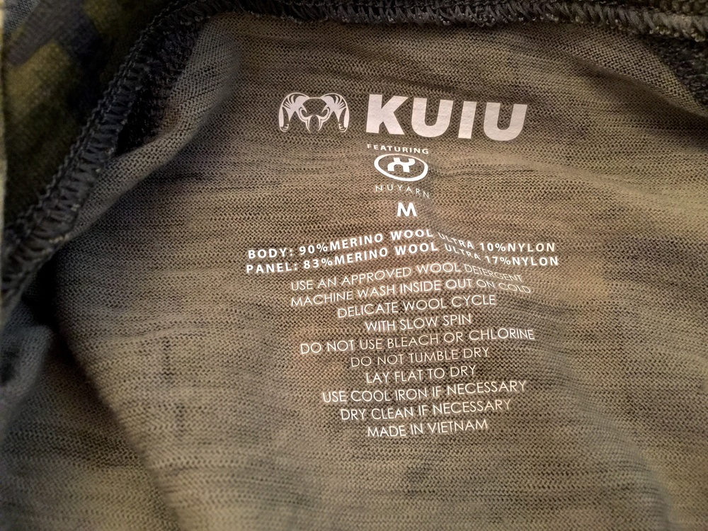 Kuiu uses NUYARN and has some of the best Merino on the market.  Since it's 90% Merino, it's quite a bit rougher than other blends but it doesn't bother me at all.  Kuiu is a consumer direct model.
