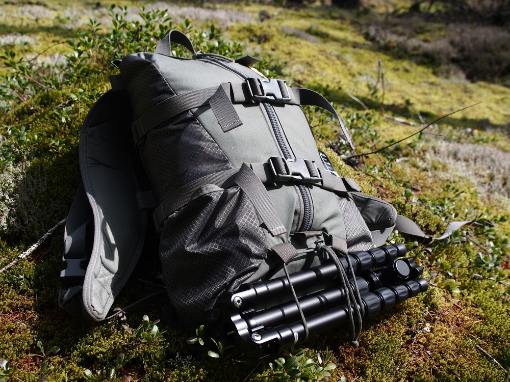 This pack is fully capable of handling a ton of gear.  In this picture I had a tripod, Kifaru Sheep Tarp, gloves, first aid kit, extra ammunition, a jacket, and a bottle of water on the other side.  It is more than capable of handling a solid day trip.