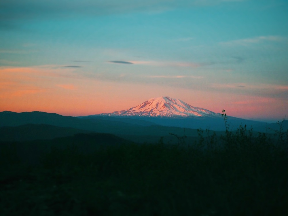 Mount Adams sunset on Day 2.