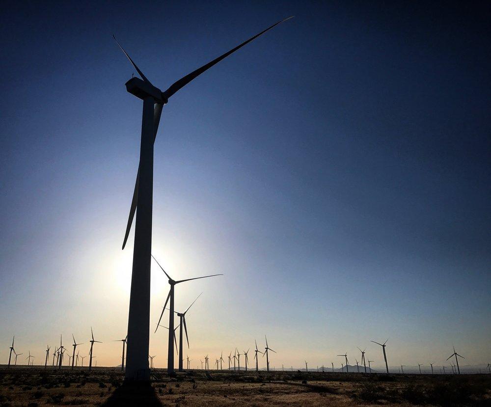 Massive wind farms.