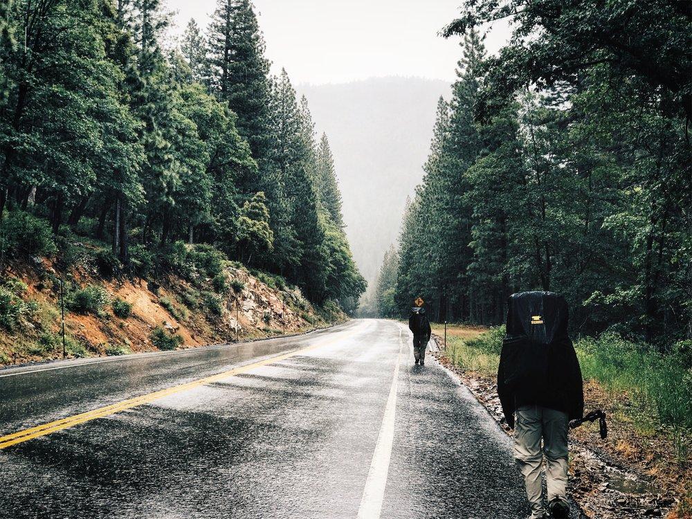 Road walk...
