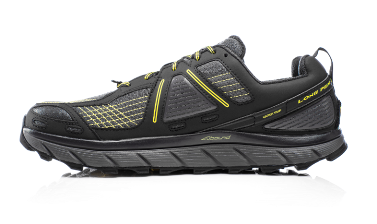 Altra Lone Peak - Most long distance hikers are using Altra for good reason. They promote a natural foot strike because they are zero drop from heel to toe. They also have a