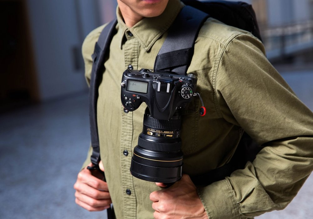 Peak Design Capture - I've battled carrying a camera since the moment I strapped on a backpack. The Capture from Peak Design is by far the best option I've found thus far. It attaches to a backpack strap and allows your camera to be at the ready, which is where it needs to be instead of being jammed in your backpack