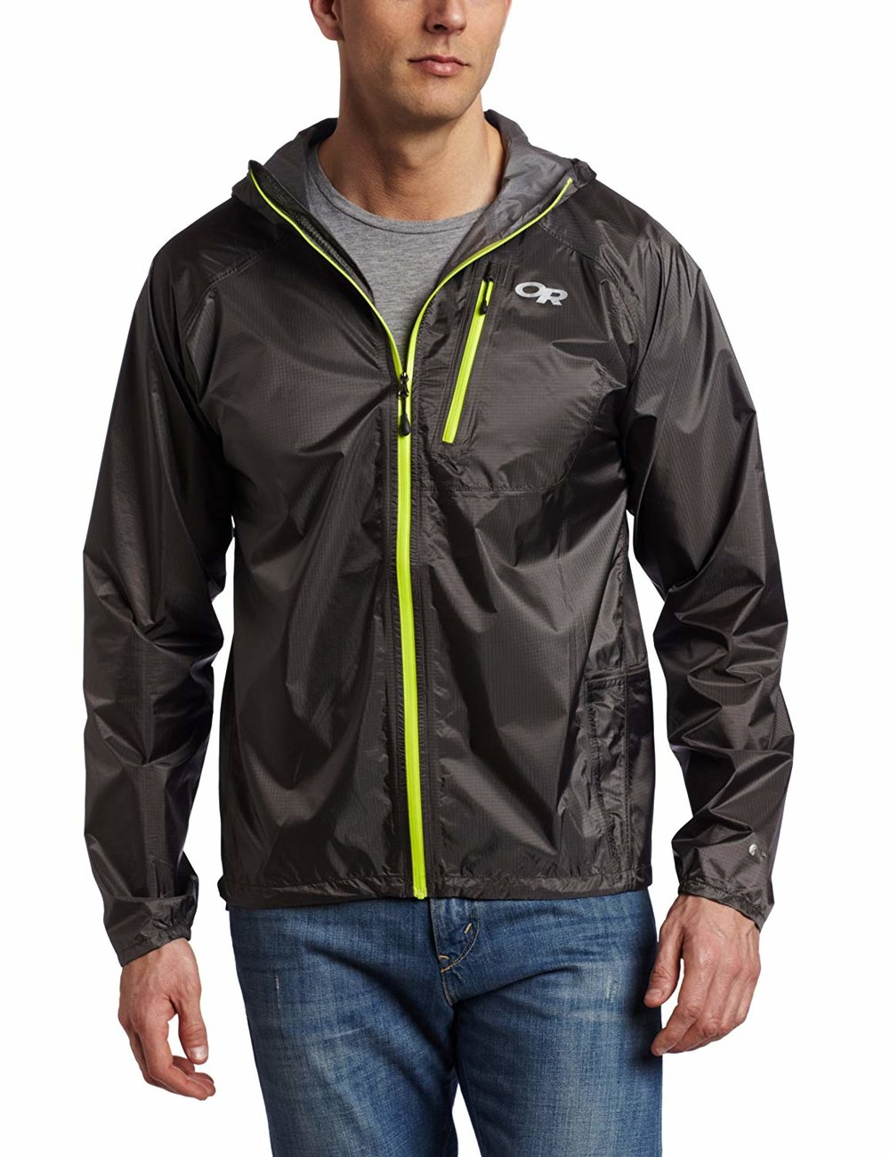 Rain Shell - Unless you know it's going to downpour, you don't need to go crazy here. A lightweight shell that will shed water for you is really all you need. This jacket from Outdoor Research has great reviews and is crazy lightweight.As the weather gets worse in the year, step up the game on rain gear.