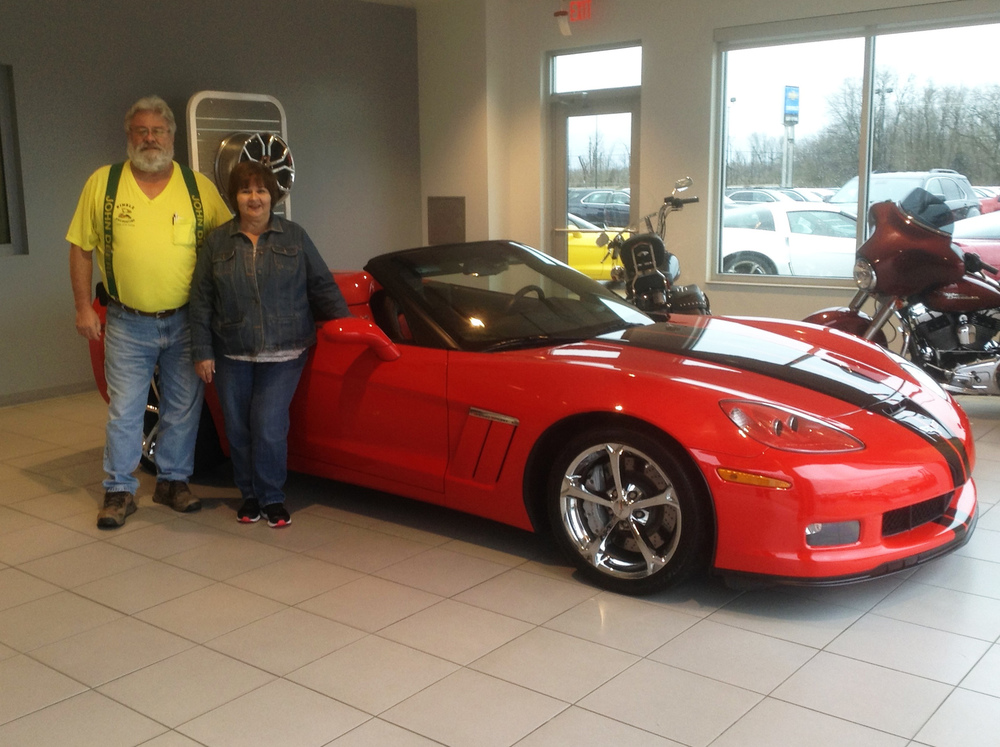 Jerry and Pam Kimble received their Christmas present from Santa.