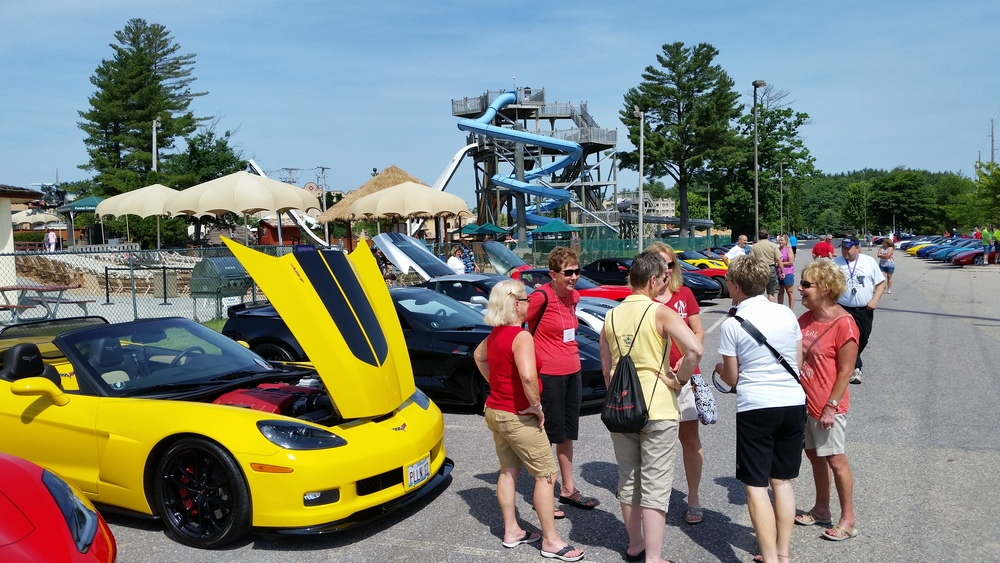 Corvette Adventures Prepping for Parade into Dells 2.jpg