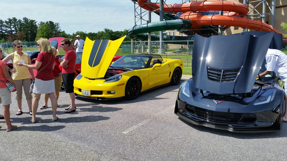 Corvette Adventures Prepping for Parade into Dells.jpg
