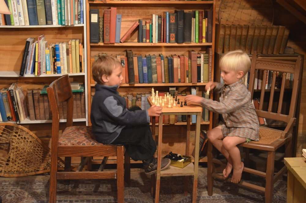 Young patrons enjoy the Reading Room