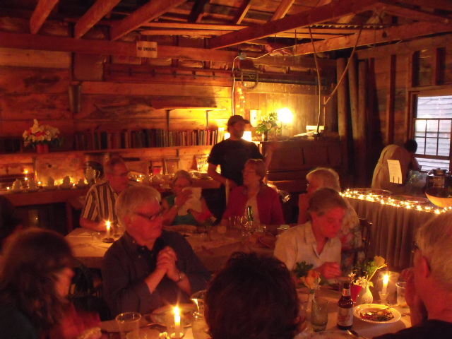Benefit supper in the Lumber Shed