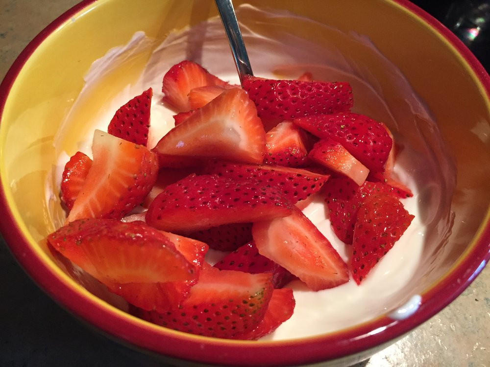 Strawberries with Greek Yogurt