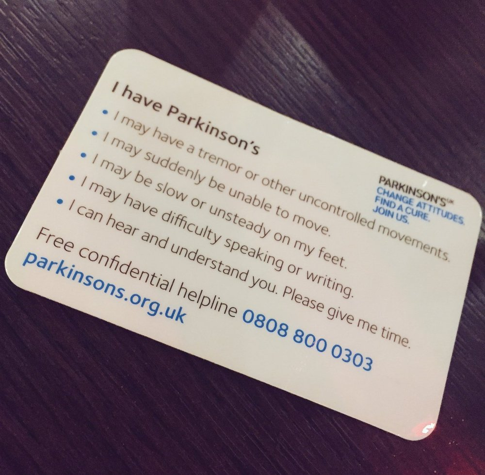 Parkinson's Alert Card