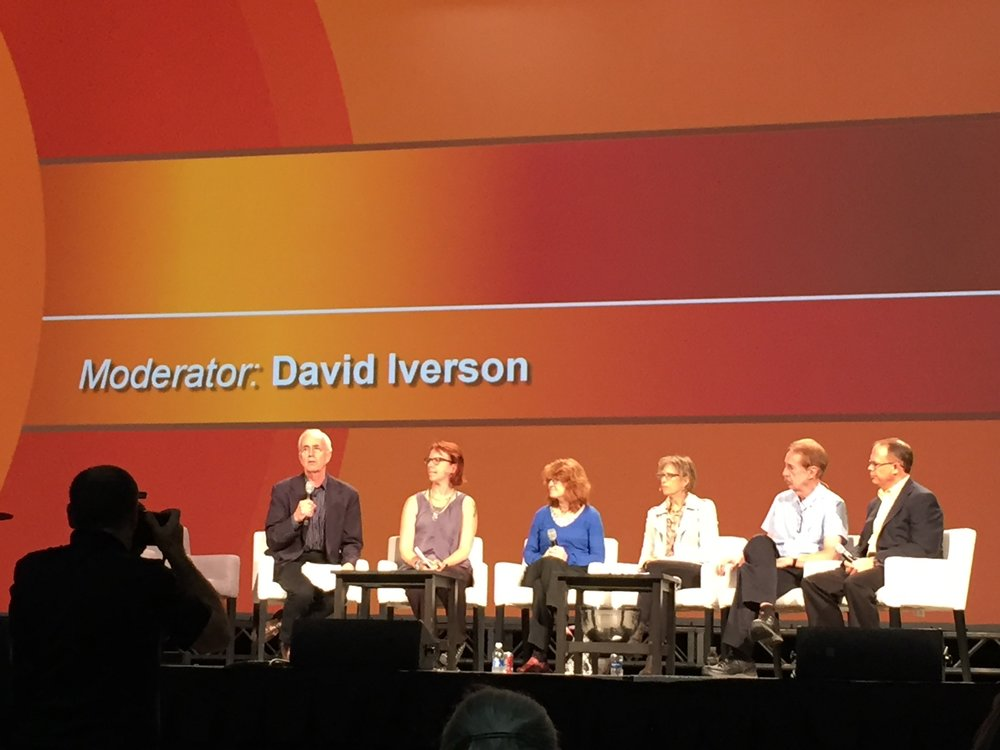 David Iverson moderating a pannel discussion at the WPC