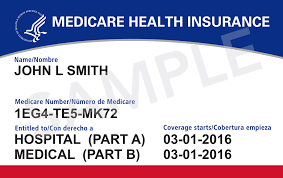 Image: Medicare health identification card