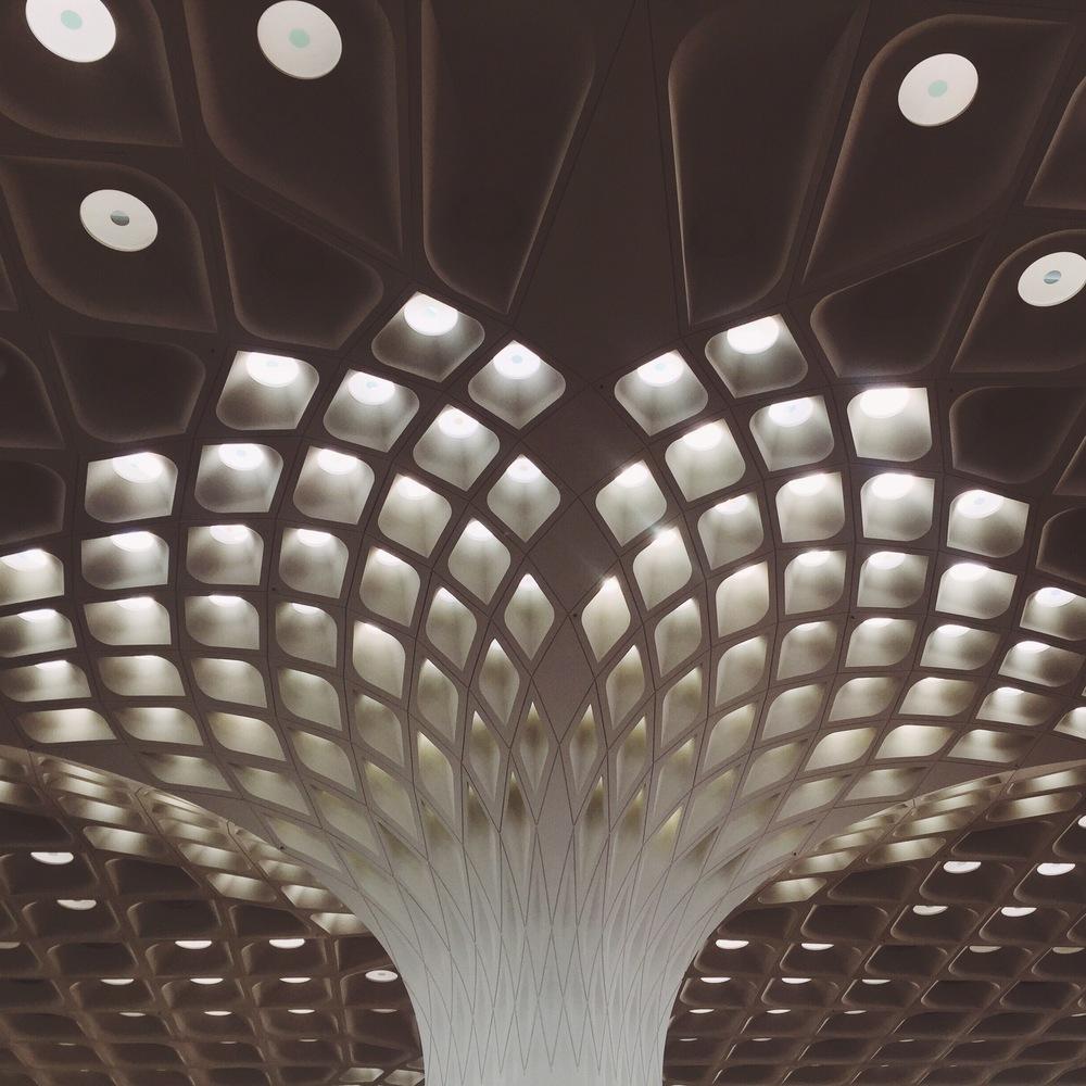 Pillar at Mumbai Airport, Mumbai.