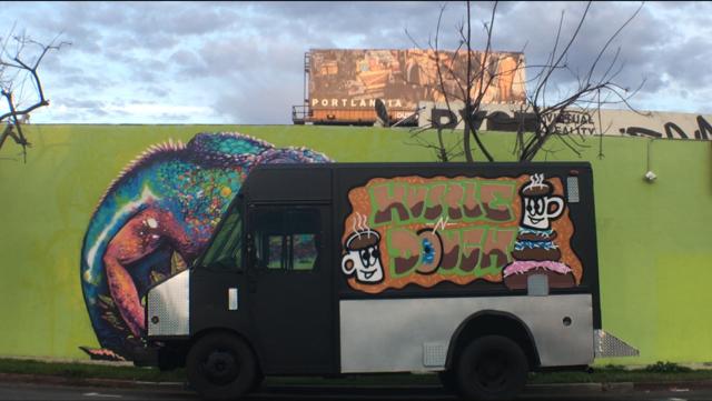 LA donut food truck