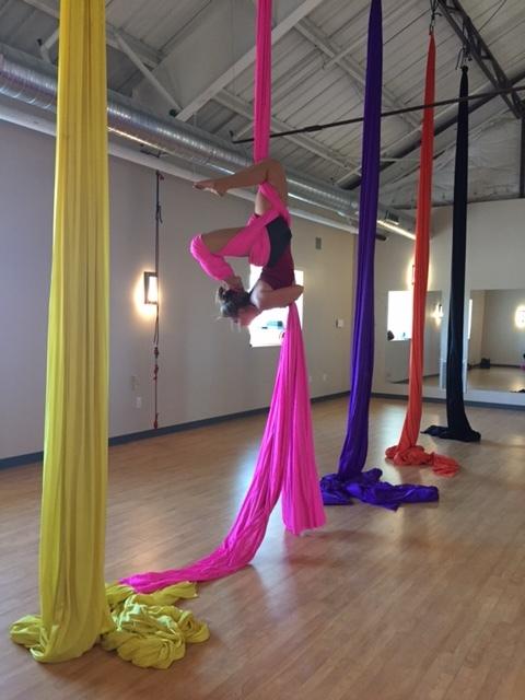Evo Rock + Fitness Indy Silks 101 instructor. She's amazing!