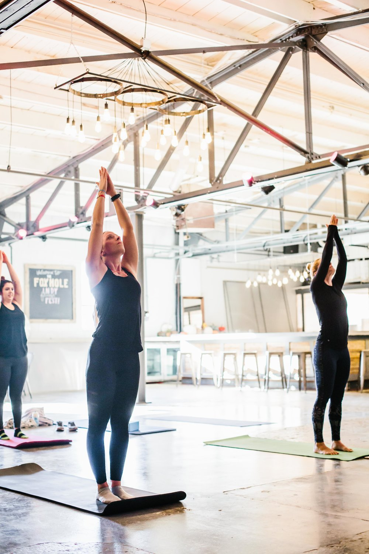 The Class: Vinyasa Yoga Instructor:  Emily Phillips  | Location:  Hotel Tango's The Foxhole  | Photo Cred:  Cotangent Studio
