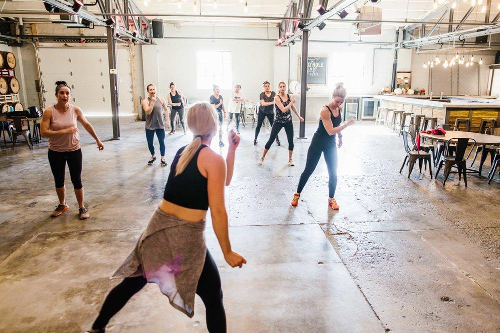 The Class: Cardio Dance Instructor:  Rebecca Jacobsen  | Location:  Hotel Tango's The Foxhole  | Photo Cred:  Cotangent Studio