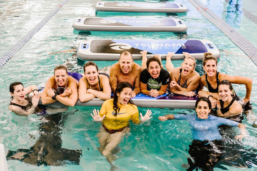 The Class: Fit Float Location:  Irsay Family YMCA  | Photo Cred:  Cotangent Studio