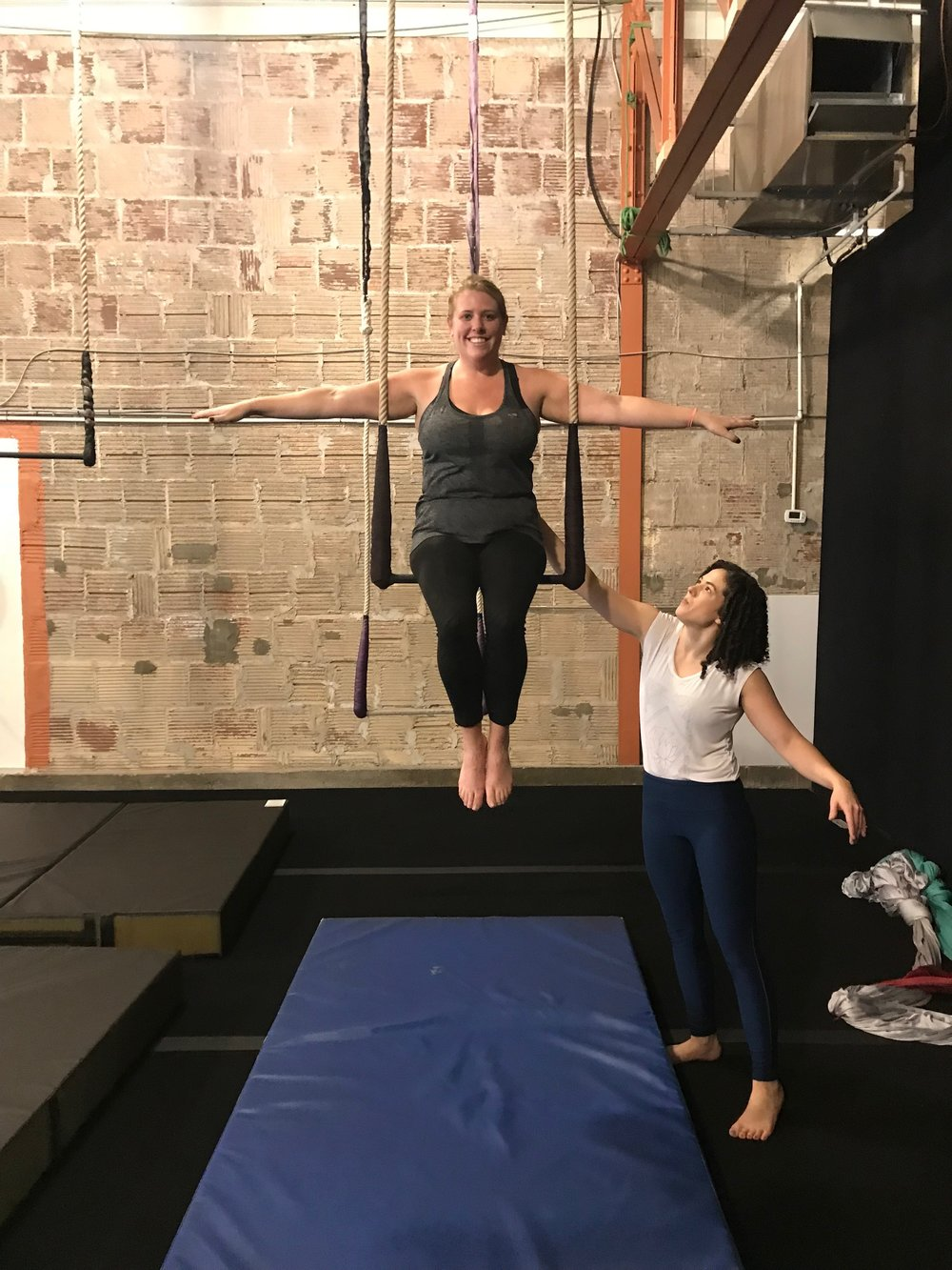 The Class: Static Trapeze Location:  Cirque Indy