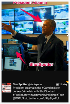 Obama Impressed by ShotSpotter in Action!