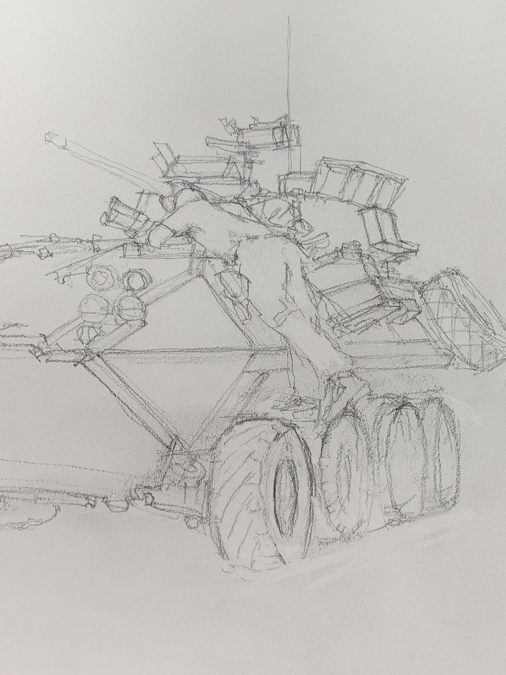 Maintenance and preparation on a Light Armored Vehicle