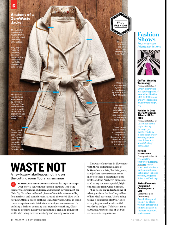 Atlanta Magazine, September 2016 (Metal Button Adornment)