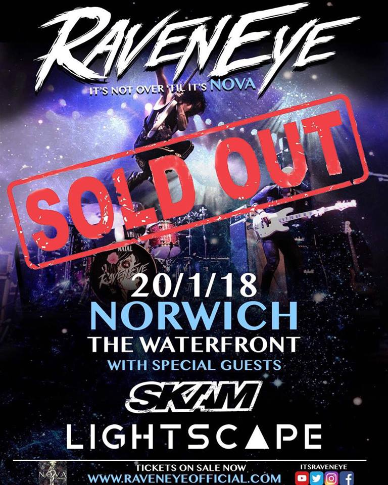 What a way to start the tour! Norwich is sold out! This run is going to be epic, new songs are so much fun to play, so much going on with this show! We're pumped.  GET YOUR TICKETS NOW!