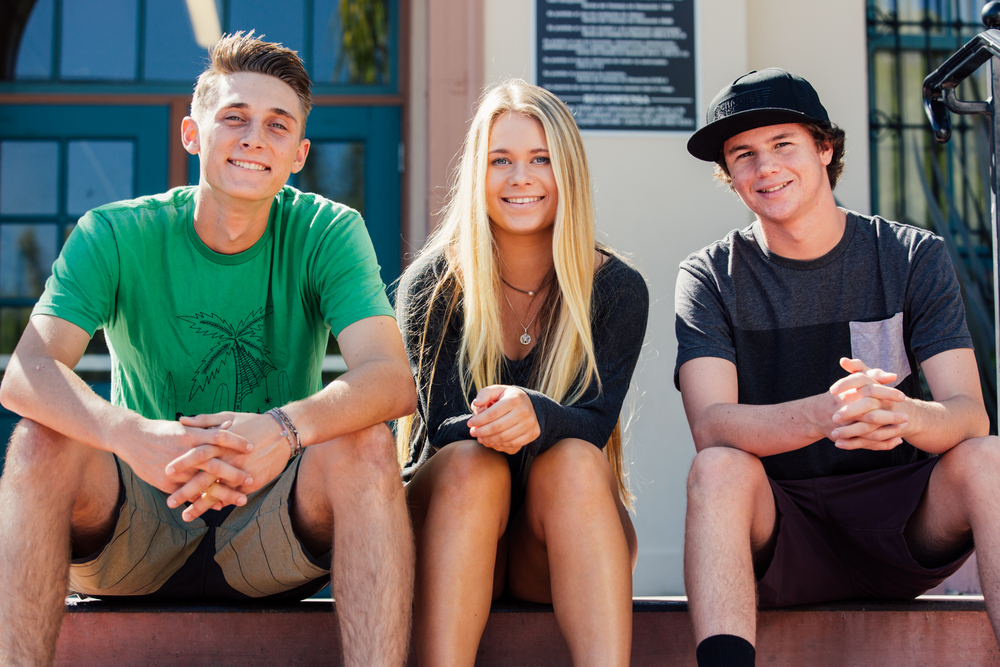 From left to right, Samsun Keithley, Ella Deardorff, Dane Holroyd
